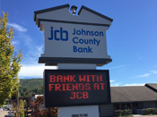 sign for Johnson County Bank